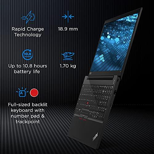 Lenovo ThinkPad E15 (2021) Intel Core i5 11th Gen 15.6 inch Full HD Thin and Light Laptop ( 8GB RAM/ 512GB SSD/ Windows 10 Home/ Microsoft Office Home & Student/ Black/ 1.7 kg), 20TDS0DW00