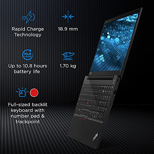 Lenovo ThinkPad E15 (2021) Intel Core i5 11th Gen 15.6 inch(39.6 cm) FHD Thin and Light Laptop (8GB RAM/512GB SSD/Windows 10/MS Office/Fingerprint Reader/Black/Aluminium Surface/ 1.7 kg), 20TDS0AC00