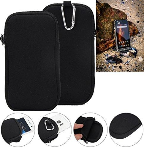 K-S-Trade Neopren Hülle für Caterpillar Cat S31 Schutzhülle Neoprenhülle Sleeve Handyhülle Schutz Hülle Handy Gürtel Tasche Case Handytasche schwarz