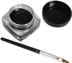 Internet Crema Mini Gel Eyeliner Con maquillaje cosmético del cepillo Delineador de ojos a prueba de agua Negro