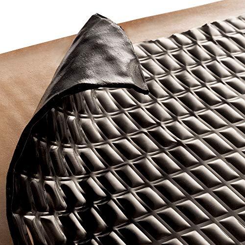 Siless Black 50 mil 52 sqft Sound Deadening mat - Sound Deadener Mat - Car Sound Dampening Material - Sound dampener - Sound deadening Material Sound Insulation - Car Sound deadening (Black)