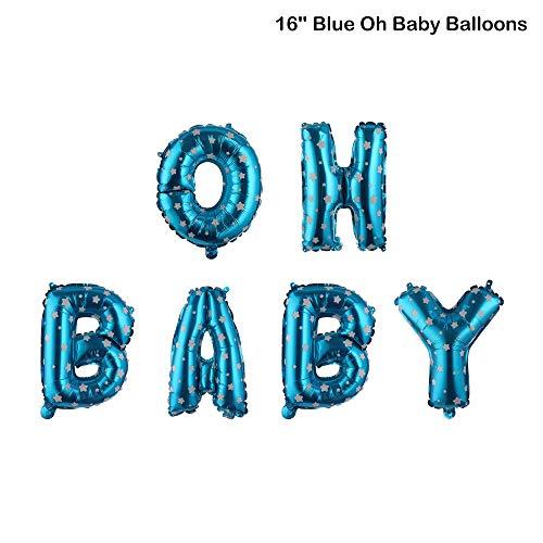 Citroen-Land Leuke Kinderen Gunsten Verjaardag Decoratie Oh Baby Baby Douche Jongen & Meisje Opblaasbare Speelgoed Folie Ballon 16'' Blue Oh Baby Balloons Zwart