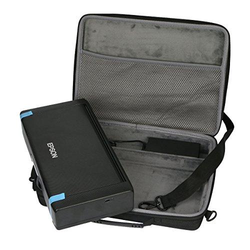 Harte Tasche für Epson Workforce WF-100W tragbaren Tintenstrahldrucker mit eingebautem Akku von co2CREA (Nur Hülle)