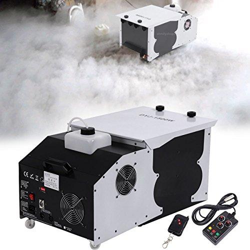 Ridgeyard 2.5L 1500W DMX Nebelmaschine Trockeneis-Effekt-niedriger liegender Grundemitter Nebelmaschine mit Fernbedienung Fog Machine