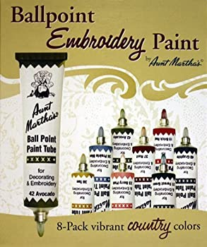 Aunt Martha s Ballpoint 8-Pack Embroidery Paint Country Colors by Aunt Martha s