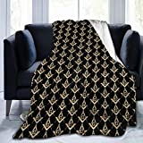 ACOGO Blanket Flannel Masonic Square Super Soft Plush Fleece Throw Blanket Home