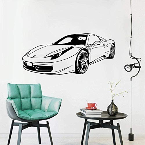 Vinilo pegatinas de pared decoración de la pared pegatinas de bricolaje Ferrari front racing mural transporte...