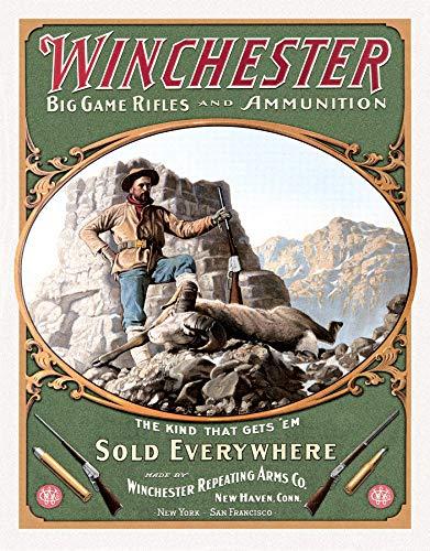 Winchester - Placa metálica para chapa con diseño de Despe