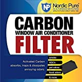 Nordic Pure Carbon Window AC Unit Filter 14x48 Cut to Fit Sheet by Nordic Pure