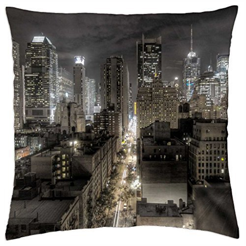 New York At Night - Throw Pillow Cover Case (18