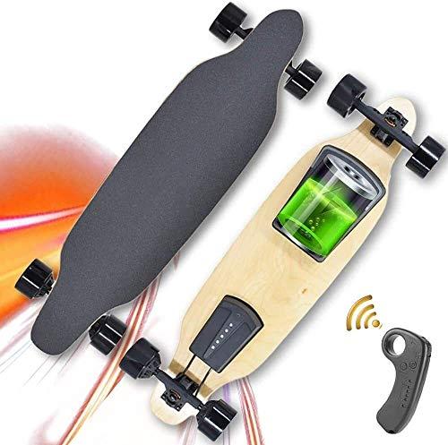 Qianqiusui Longboard Skate électrique, avec Une télécommande sans Fil, la Vitesse maximale 35KM,...