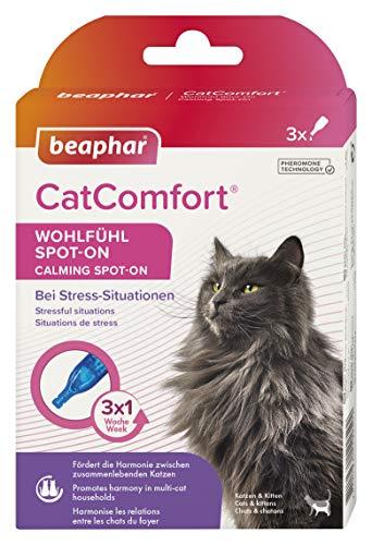 beaphar CatComfort Wohlfühl Spot-On, Beruhigungsmittel für Katzen mit Pheromonen