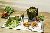 Rotho Greenline Komposteimer 7l mit Deckel und Henkel für die Küche, Kunststoff (PP recycelt) BPA-frei, grün, 7l (26,0 x 20,8 x 25,0 cm) - 2
