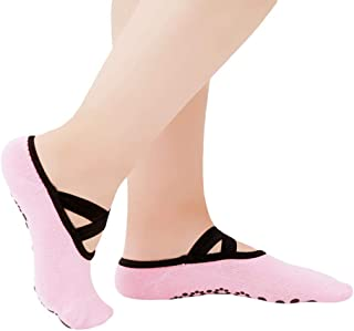 Women Yoga Socks Anti-Slippery Bandage Breathable Pilates Ballet Dance Socks Casual Girl's Backless Sports Socks