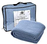 Best Cotton Blanket Queens - HILLFAIR 100% Soft Premium Combed Cotton Thermal Blanket– Review