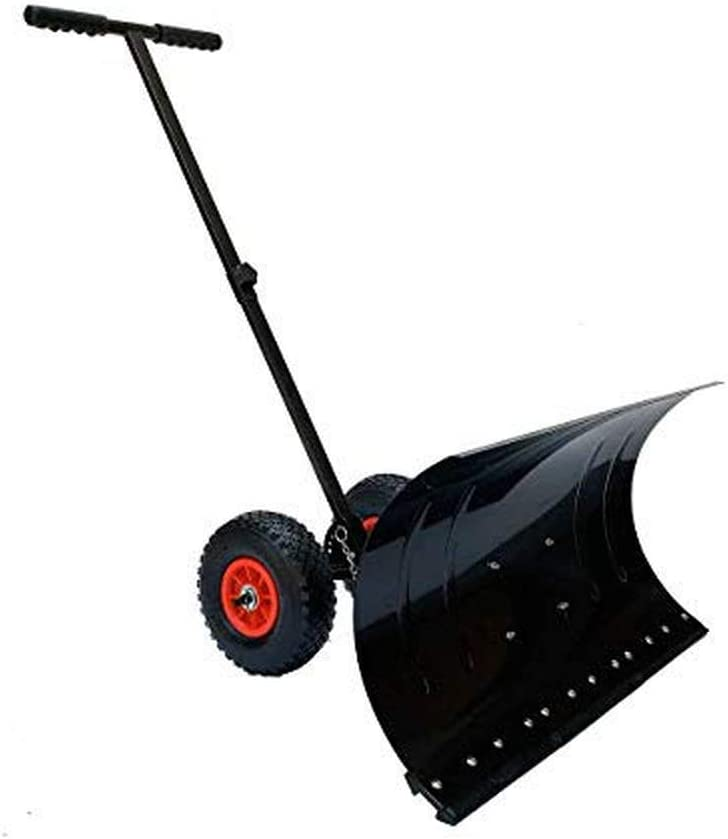ECUTEE 29 x 13 inches Wheeled Max 51% OFF safety Pusher Duty Snow Meta Shovel Heavy