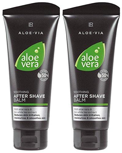 LR ALOE VIA Aloe Vera Men After Shave Balsam nach der Rasur (2x 100 ml)