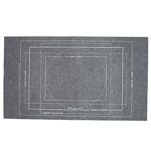 Puzzleunterlage, Puzzlematte Puzzlerolle Puzzle Roll Storage Mat für BIS 3000 Puzzle Teile,Puzzle Pad Puzzleteppich mit Aufbewahrungstasche, Tragbare Puzzle-Bodenmatte Zubehör (Paket 1 Grau 1500)