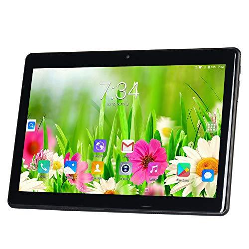Selcouthlie S10 Tablet PC 10.1 Pulgadas 800X1280 IPS MT6580 4-Core 1G + 32G Android 7.0 Dual Cassette Call Tablet PC-Negro (Enchufe de la UE)
