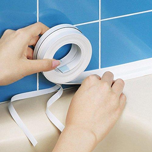 Bluelover cocina baño pared de sellado cinta impermeable cinta adhesiva a prueba de moho