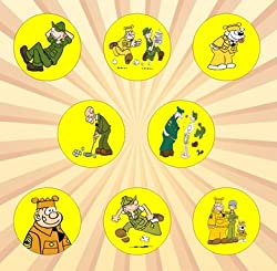 Image: Beetle Bailey Set of 8 - 1 Inch Pinback Button