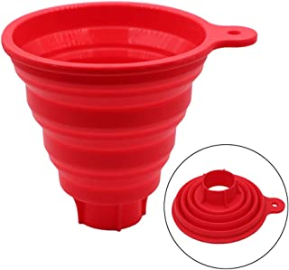 KongNai Silicone Collapsible Funnel for Jars, Foldable Large Canning Jar Funnel for Wide Mouth and Regular Jars, Food Grade Jam Spice Funnel for Canning Transferring of Liquid Solid Bean
