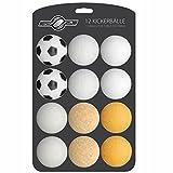 GOODS+GADGETS Juego de 12 pelotas de futbolín para mesa de futbolín, varios tipos (corcho, polietileno, poliuretano, ABS), 35 mm