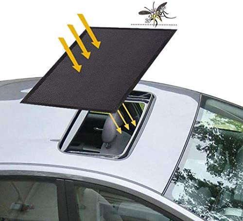 Car Sunroof Sunshade Sunroof Sun Shade Universal Car Roof Cover with Magnetic Breathable Mesh product image