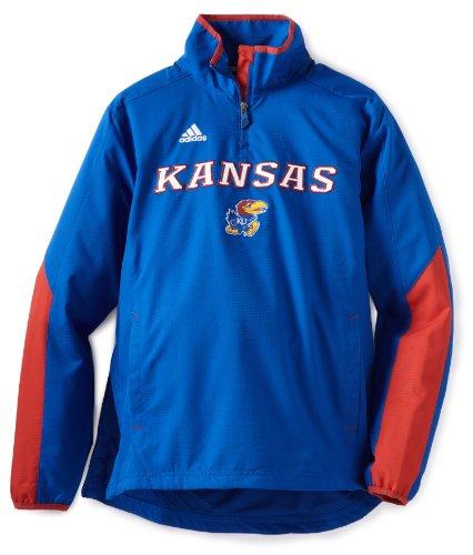 adidas NCAA Herren Jacke Kansas Jayhawks Sideline Hot Jacket, Herren, königsblau, Medium