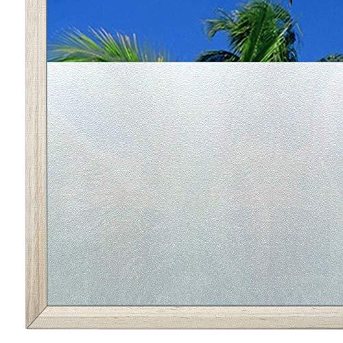 Qualsen Fensterfolie selbsthaftend Blickdicht Statisch Sichtschutzfolie Fenster Milchglasfolie Für Zuhause Badzimmer Büro 90 x 200 cm