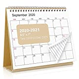 SKYDUE Desk Calendar 2020-2021,7' x 8.5' Desktop Flip Monthly Calendar, Sep 2020 to Dec 2021 as Academic Calendar, 16 Months Stand Up Calendar with to-Do List Suit for Office, School (Kraftpaper)