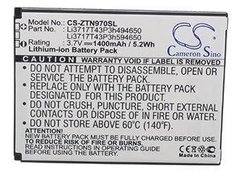 High Capacity Replacement Battery for ZTE N810 N817 N818 N861 N861 Warp Sequent N880F Li-ion 1400mAh / 5.18Wh