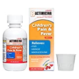 Children's BACTIMICINA Liquid, 160 mg Acetaminophen Fever Reducer/Pain Reliever, Ages 2-11, Natural Cherry Flavor, Made in USA, 4 FL OZ.