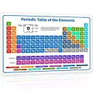 """2020 The Periodic Table of Elements Poster - 24""""x16"""" White Chemistry Chart for Teachers, Students, Classroom, Home 