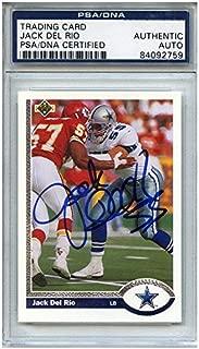 Jack Del Rio Autographed Signed Football Trading Card Dallas Cowboys PSA/DNA #84092759