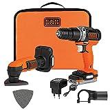 Black + Decker bdck121s1s-qw Black + deckerbdck121s1s-qw taladro de percusión y lijadora de detalles inalámbrico 12V-batterie y cargador)