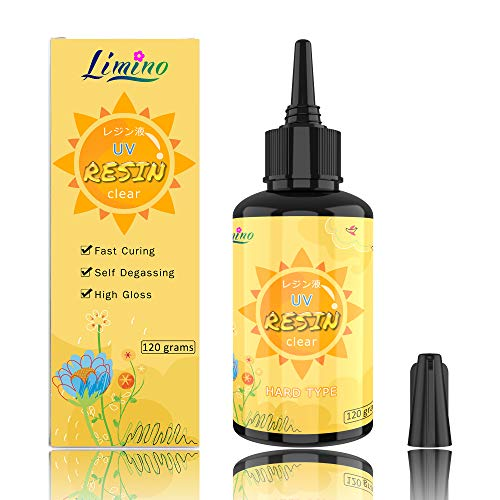 UV Resin 120g Transparent Ultraviolet Curing Epoxy Resin for DIY Jewelry Making, Craft Decoration - Solar Cure Sunlight Activated Resin Hard Crystal Clear Glue for Casting & Coating,DIY Resin Mold