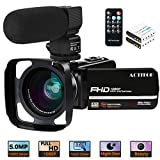 "Video Camera, ACTITOP Camcorder FHD 1080P 24MP IR Night Vision 3"" LCD Touch"