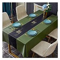 長方形のテーブルクロス、拭き取り可能なきれいなPVC防水テーブルクロス耐久性のある耐油性テーブルカバー、キッチンダイニング装飾用,10,130x180cm
