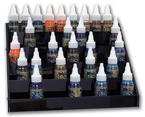 Display en noir pour environ 45 Sticker Couleurs (30 ml) Acrylique Ink Display