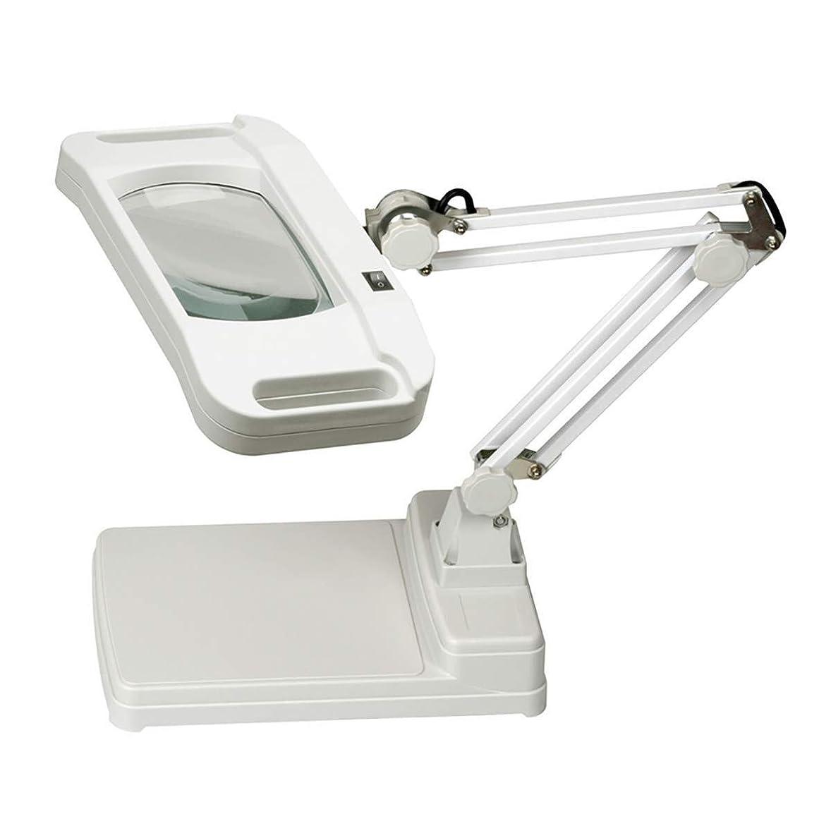 満了貯水池男ミニハンドヘルド拡大鏡 3X / 10X拡大鏡54 LEDランプ太陽光明るい照明付きレンズ-Utility拡大鏡ライト、デスク用の高さ調節グースネック 顕微鏡