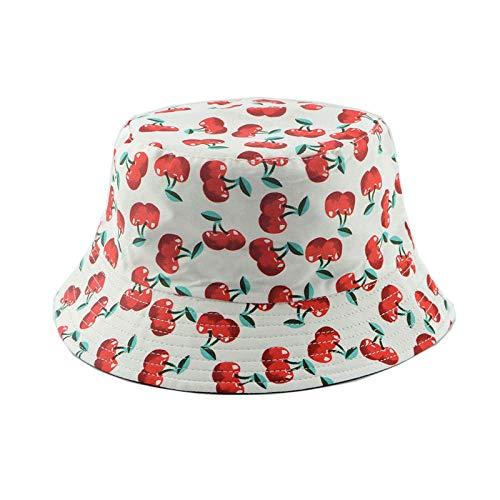 LIUBAOBEI Cubo Sombreros,Sombrero De Cubo Reversible Sombrero De ala Ancha De Algodón De Verano para Mujer Regalo De Moda Gorra De Playa De Golf De Jardín Sombrero De Cubo Floral-Color: 12_58Cm