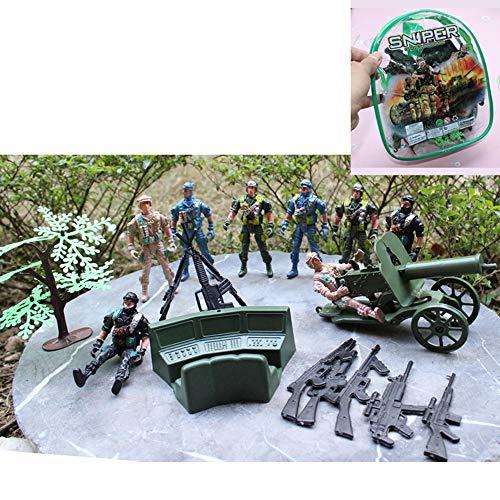 9Cm Plastic Soldaat Ingesteld Militaire Karakter Speelgoed Bewegende Poppen Militair Speelgoed Met Wapen Politie-Auto Simulatie Echte Scene Jongen Gift Militaire Set