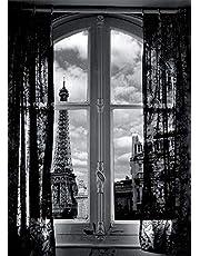 Feeling at home Lamina-sobre-Lienzo-ENROLLADA-Cm_122_X_87-Hellerdani-Mauricio-Torre-Eiffel-de-París-Ven-europeo-Canvas-enrollado-380gr-100% Lienzo