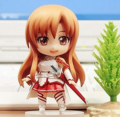 Liiokiy 10 cm Figura de acción Espada Arte en línea Asuna Figura Anime niña Anime Figura Coleccionable Figura decoración Arte Regalo Juegos Anime animación Personaje Modelo en Caja