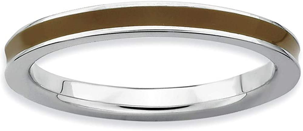 Roy Rose Jewelry Sterling Silver Expressions Max 60% OFF Stackable Ena Brown excellence