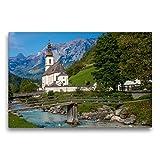 Premium Textil-Leinwand 75 x 50 cm Quer-Format Parrkirche