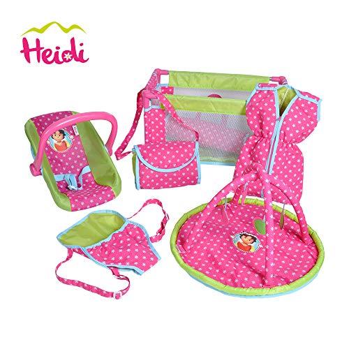 Knorrtoys 81153 - Puppen Reiseset Heidi, 9-teilig