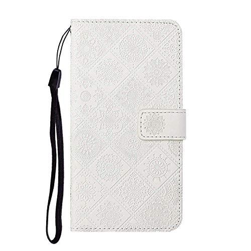 Dramavol für Samsung A32 5G Hülle Schutzhülle Hülle Flip Wallet Bag Kartensteckplätze Hülle für Samsung Galaxy A32 5G Handyhülle mit Halterständer,Weiß