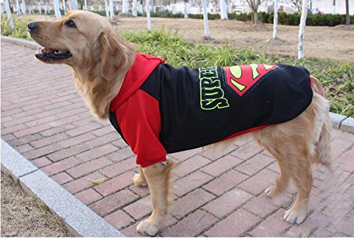 Pet Dog Sweat à capuche chaud pour vêtements de sport pour grand chien